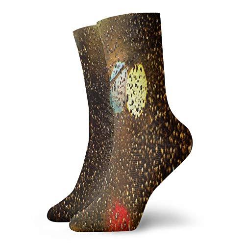 Calcetines de lluvia para Mac Sport Athletic Sock Casual Calcetín Calentador Poliéster Crew Tube Medias 11.8 pulgadas para hombre y mujer