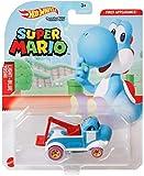 Hot Wheels Super Mario Light Blue Yoshi Character Cars
