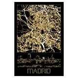 artboxONE Poster 60x40 cm Städte Madrid in Gold