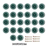 Cepillo abrasivo de disco de cerdas radiales Discos de cerdas, kit de bristle radial de 1 pulgada Cepillo abrasivo 1/8 '3 2.35mm Detalle de vástago Rueda de pulido para accesorios de herramientas rota