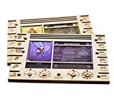 Gloomhaven/Frosthaven Player Character Dashboard with HP & XP Dial Trackers Set of 2 Birch Plywood Hero Organizer for Saving Your Table Space