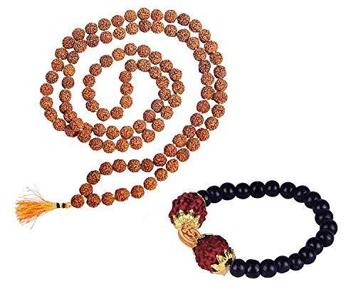 SataanReaper Presents Rudraksha Bracelet with Rudraksha Mala, 15 Gram, Pack of 1#SR-1323