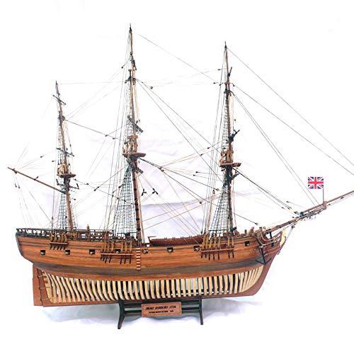 Wasserfahrzeug-Modellbausätze Model Schiff Wooden Ship Models Kits Educational Toy Train Hobby Model Boats Wooden 3D Laser Cut Scale 1/32 Hms Druid 16 Cannon Frigate