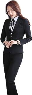 [美しいです] レディース スーツ セットスーツ 洋服 パンツスーツ 防寒 あったか 厚手 シンプル カジュアル 冬 保温 防寒 通勤 修身