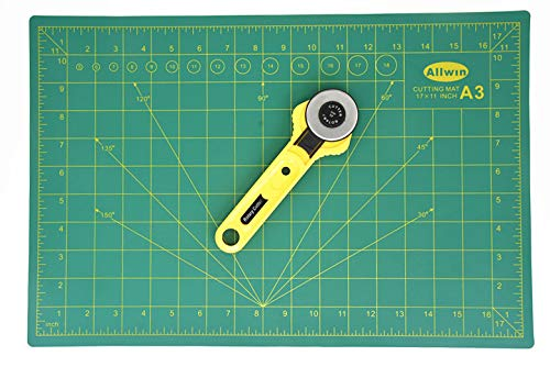 Alikeke Gridded Cutting Mat 12' X 18'(A3) + 28mm Rotary Cutter
