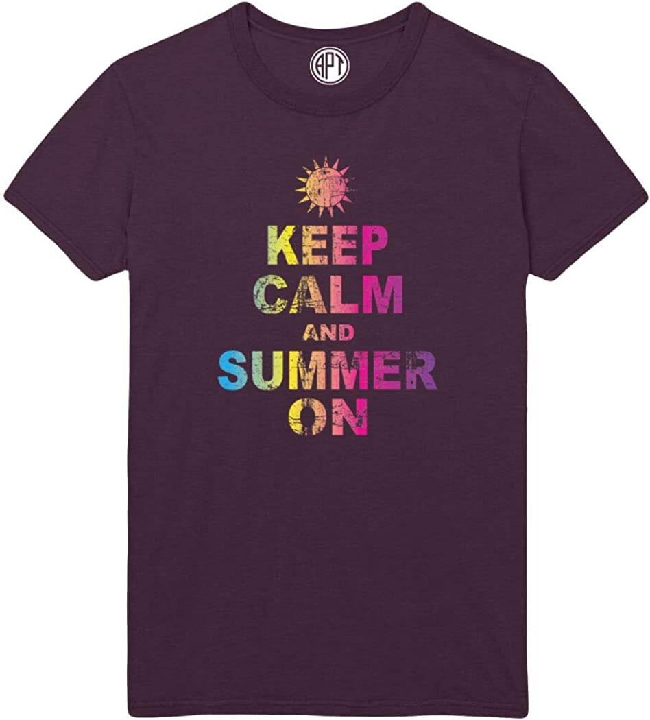 Keep Calm and Summer On Printed T-Shirt