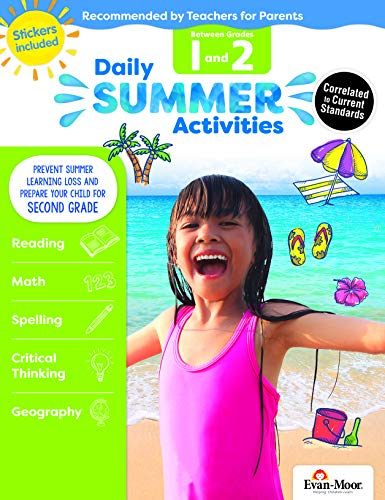 Evan-Moor Daily Summer Activities, Between 1st Grade and 2nd Grade Activity Book; Summer Learning Workbook Activities (The Best Vacation Ever K5 Learning Answers)