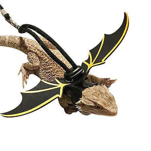 YETE Plomo Barbudo Alas de Dragón Correas de Lagarto Arnés, Cuero Suave y Cuerda Duradera para lagartijas Geckos Iguanas Animales pequeños