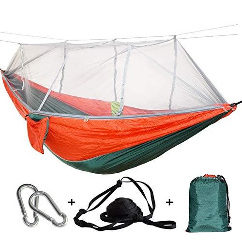linfei Moustiquaire Extérieure Parachute Hamac Camping Suspendu Lit De Couchage Balançoire Portable Double Chaise B G