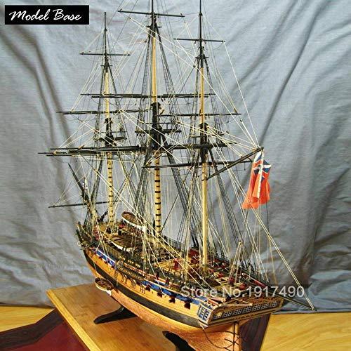 Hummla Maquetas de Barcos de Madera Kits de Trenes Hobby Bricolaje Maquetas de Barcos Madera Modelo de Corte láser 3D Escala 1/64 Fragata de la Marina británica HMS Diana 1794
