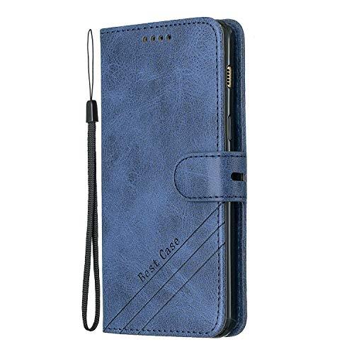 Hülle für Galaxy A8 2018 Hülle Handyhülle [Standfunktion] [Kartenfach] [Magnetverschluss] Tasche Etui Schutzhülle lederhülle klapphülle für Samsung Galaxy A8 2018/A530F - JEHX010094 Blau