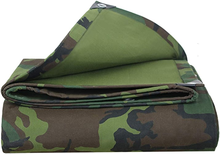 Yongyong Bache de Pluie épaisse en Toile imperméable pour extérieur Motif Camouflage Vert 3 x 4 m, Toile, 4x4M