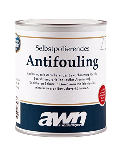 AWN Antifouling selbstpolierend Weichantifouling für Boot und Yacht bis 40 Knoten - rot 0.75l