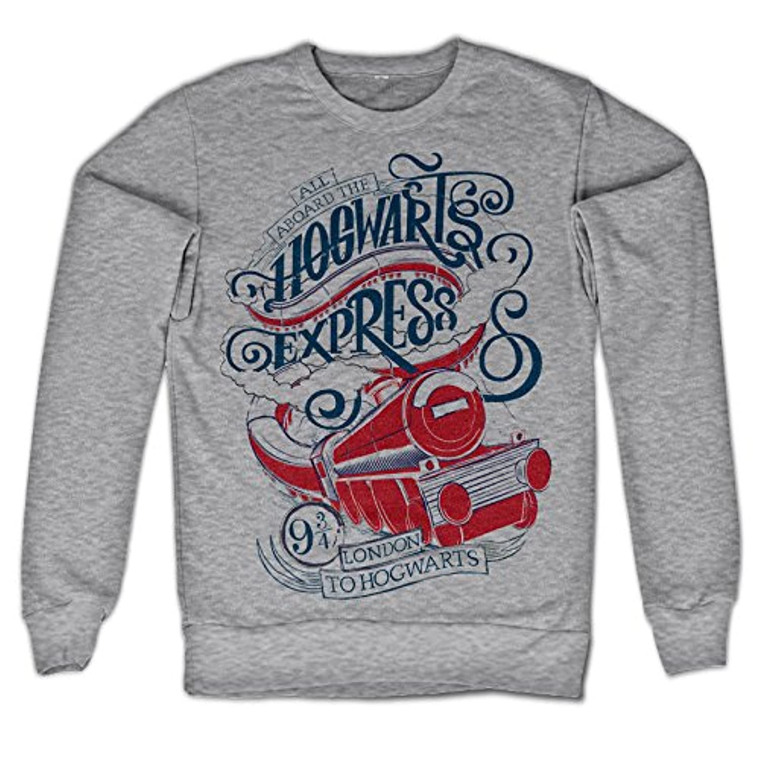 Officially Licensed Inked All Aboard The Hogwarts Express Sweatshirt (Heather Grey)