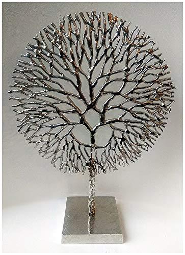 Hermoso árbol de coral de aluminio pulido