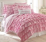 Levtex Bella Twin Cotton Quilt Set Pink Ruffled