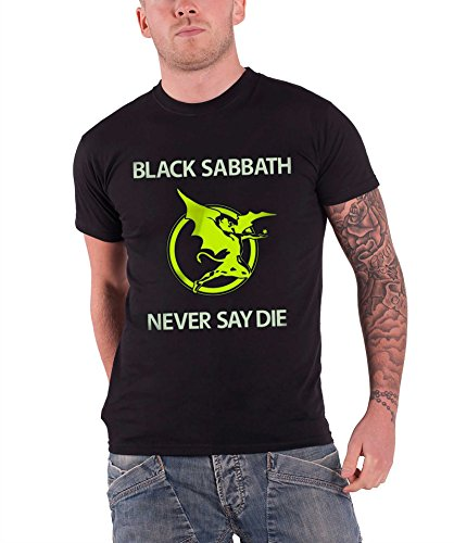 Black Sabbath Never Say Die Demon Band Logo Official Mens Black T Shirt