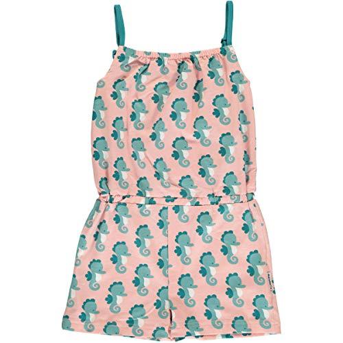 Maxomorra Mädchen Jumpsuit/Biobaumwolle/rosa mit Seepferdchen Größe 110/116