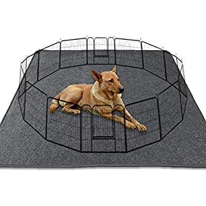 Washable Dog Whelping Pad XXL Puppy Playpen Mat, 72″x72″ Reusable Puppy Pee Pads with Great Absorbency,Waterproof Dog Pee Pads Dog Floor Mat for Crate and Playpen Dog Play Mat for Whelping or Training