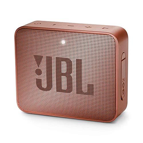 JBL GO 2 kleine Musikbox - Wasserfester, portabler Bluetooth-Lautsprecher mit Freisprechfunktion - Bis zu 5 Stunden Musikgenuss mit nur einer Akku-Ladung Dunkelrosa
