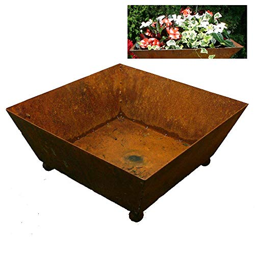 EQT-TEC Designer Garten Pflanzschale 40 x 40 x 17 cm Pflanzkübel Blumentopf Blumenkübel