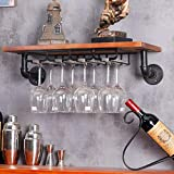 LVPY Supporto Porta Calici, Portabicchieri Supporto con 4 Binari - Sospensione o a Parete Supporto in Vetro per Cucina/Bar/Ristorante