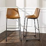 "WE Furniture AZHL30WB Barstool, 30"", Whiskey Brown"