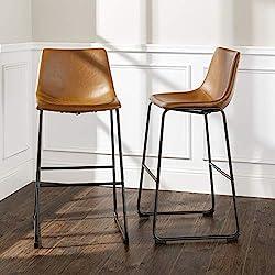 "Walker Edison Furniture Barstool, 30"", Whiskey Brown"