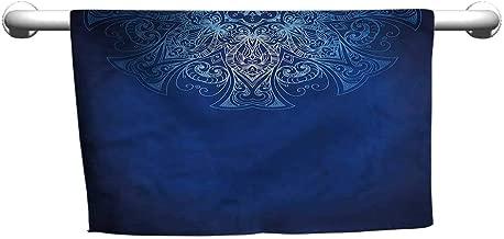 alisoso Pool Towels Royal Blue,Eastern History Pattern W 14