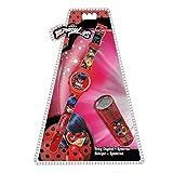 Kids Licensing- Ladybug Set Montre avec Lampe Torche, LB17053, Rouge