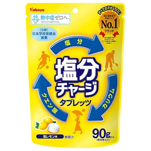 カバヤ 塩分チャージタブレッツ塩レモン 90g×6袋入×(2ケース)