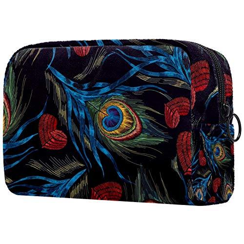 Bolsa de maquillaje personalizada para brochas de maquillaje, bolsa de aseo portátil para mujer,...
