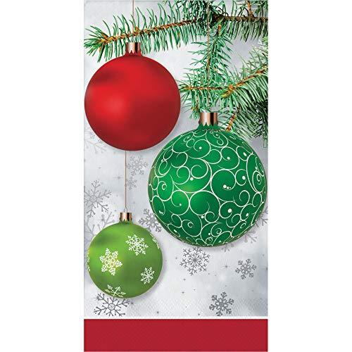 Decorative Paper Hand Towels for Christmas Bathroom Decor Guest Towels Disposable Ornaments PK 32