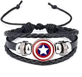 LootGuys: Themed Black Leather Braided Bracelet - Men and Women