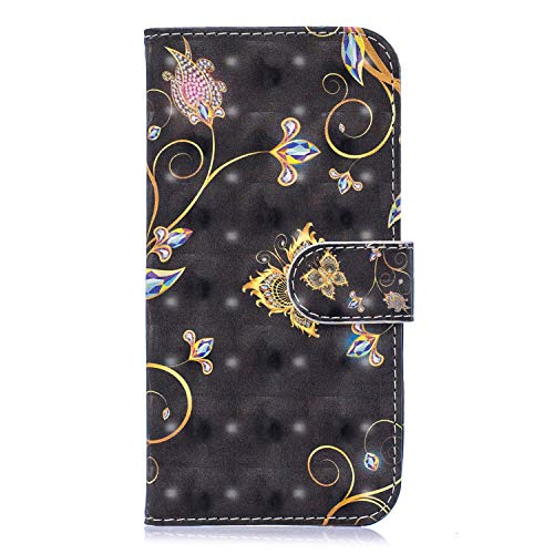 Miagon Flip Hülle für Galaxy S10 Plus,3D Luxus Bookstyle Magnetverschluss Klapphülle Kartenfächer Schutzhülle Brieftasche Ledertasche Wallet Lederhülle Etui für Samsung Galaxy S10 Plus