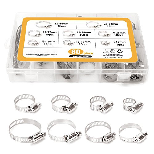 Lot de 2/colliers de serrage /Ø au choix de 38 /à 76/mm colliers d/échappement/