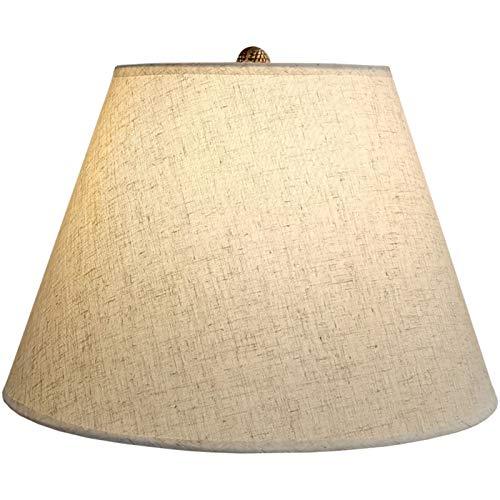 SAC d'épaule Lino Sabe la Pantalla, Lámpara de Bricolaje, lámpara de Mesa de Tornillo E27 Lámpara de pie Pantalla de la lámpara, Empire Lino Lampshade,50CM