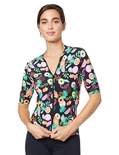 Márcio May Sports Camisa Ciclismo Feminina Funny Tutti-Fruti, Grande, Multicolorido