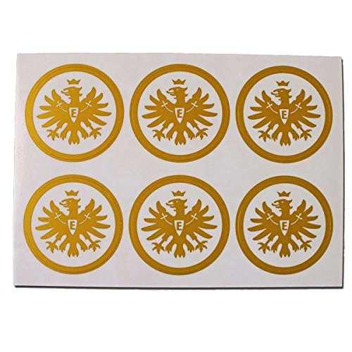 Aufkleber-Set Logo gold 6er Eintracht Frankfurt + gratis Sticker Frankfurt forever, Sticker, Autoaufkleber