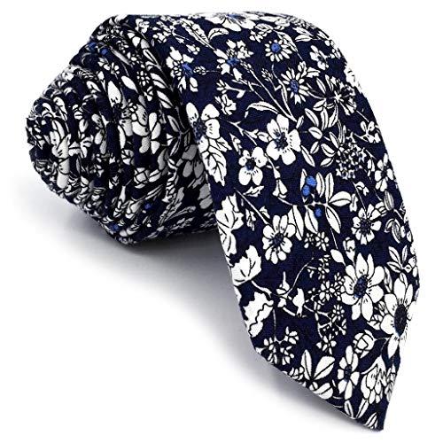 S&W SHLAX&WING =Corbatasde algodónpara Hombres corbata delgada con estampado floral