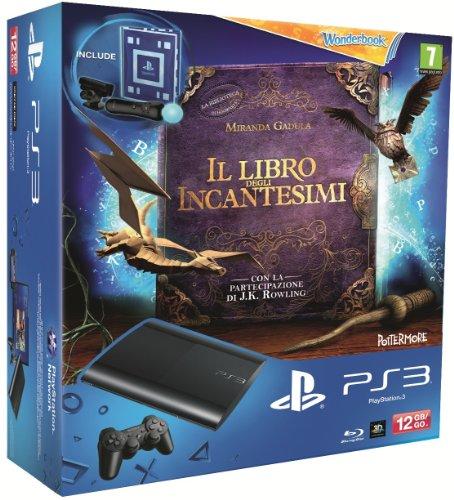 Sony 12GB, PlayStation 3 + Wonderbook - juegos de PC (PlayStation 3 + Wonderbook Negro