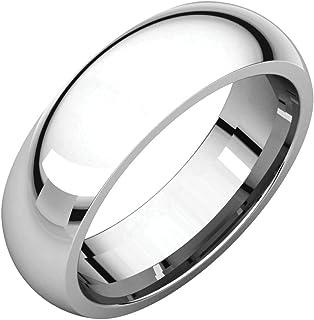 FB Jewels 925 فضة استرليني 6 ملم الراحة صالح الرجال خاتم الزفاف الفرقة الحجم 14.5