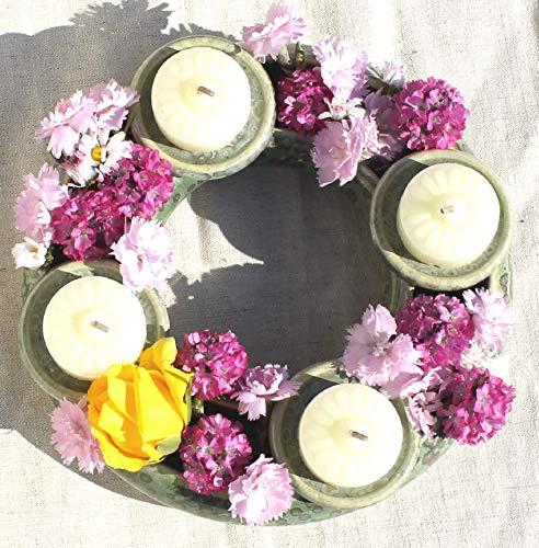 Blumenring Kerzenhalter - tolle Geschenk- und Dekoidee