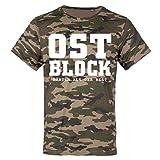 Männer und Herren Tarn T-Shirt Camo OSTBLOCK Härter als der Rest Größe S - 3XL