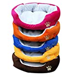 HJWXY Lit de Chat de lit de Chien de nid d'animal familier de Style de Conception d'empreintes de Pas en Coton Doux Confortable, aléatoire, M