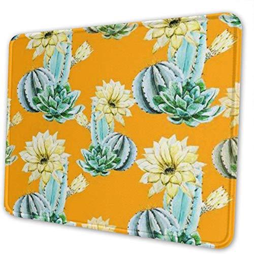 Alfombrilla de ratón para Ordenador con diseños de Cactus Amarillo Rectangular con...