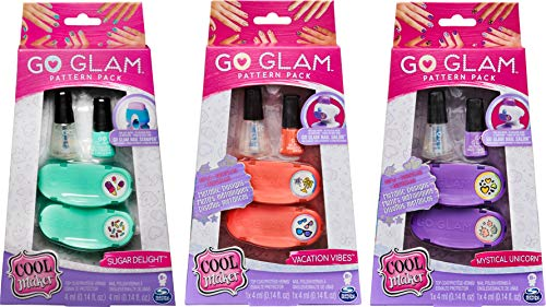 Spin Master GoGlam Fashion Cool Maker: Go Glam Pattern Pack Nail Stamper-Daydream, color rosa, púrpura (6046865) , color/modelo surtido