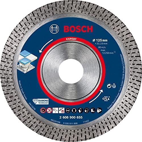 Bosch Professional 1x Dischi Diamantati Expert HardCeramic per Piastrelle dure, Pietra dura, Ø 125 mm, Accessorio Smerigliatrice Angolare Piccolo