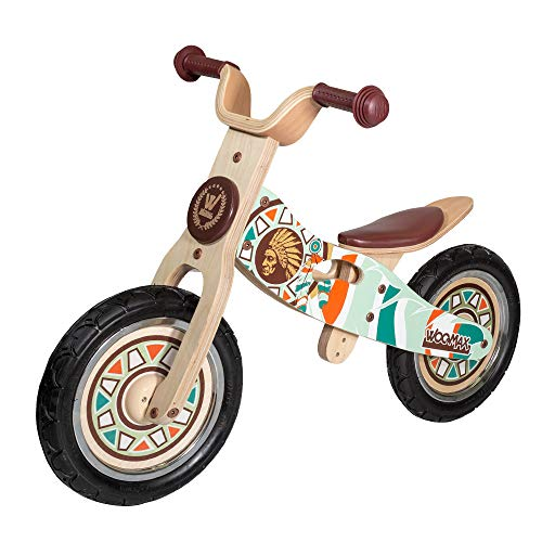 WOOMAX - Indian 12 Bici sin Pedales en Madera, Color Multicolor, 85369