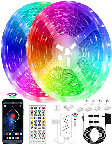 Led Light Strips 65.6FT Led Lights for Bedroom RGB ADPPY Led Strip Lights with 40-Key Remote App Control Music Sync Room Party Lights